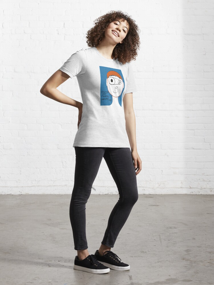 Alternate view of Change Your Thinking Use Your Legs Essential T-Shirt