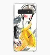 Saxophonist Musician Music Expressive Drawing Case/Skin for Samsung Galaxy