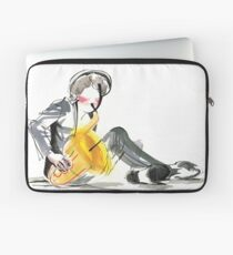 Saxophonist Musician Music Expressive Drawing Laptop Sleeve