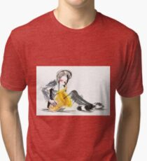 Saxophonist Musician Music Expressive Drawing Tri-blend T-Shirt