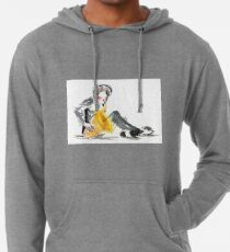 Saxophonist Musician Music Expressive Drawing Lightweight Hoodie