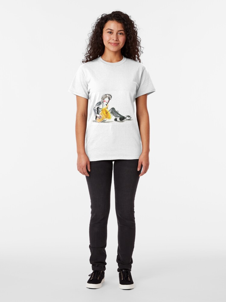 Alternate view of Saxophonist Musician Music Expressive Drawing Classic T-Shirt