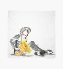 Saxophonist Musician Music Expressive Drawing Scarf