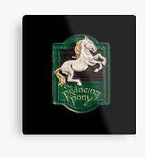 Das tänzelnde Pony Metallbild