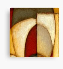 Abstract Circles Oil Painting Canvas Print
