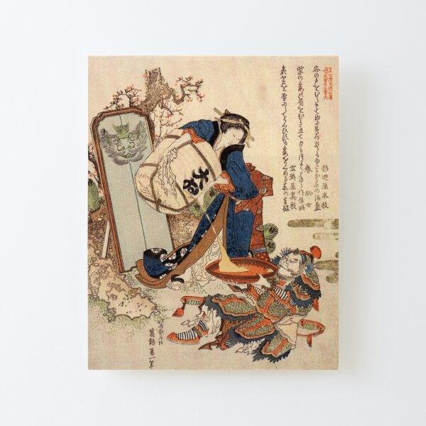 The Strong Oi Pouring Sake by Katsushika Hokusai Canvas Mounted Print