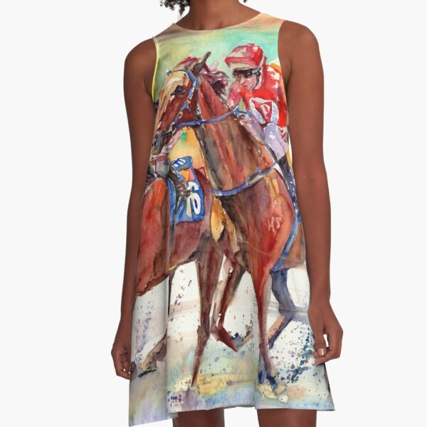 Thoroughbred Racing A-Line Dress