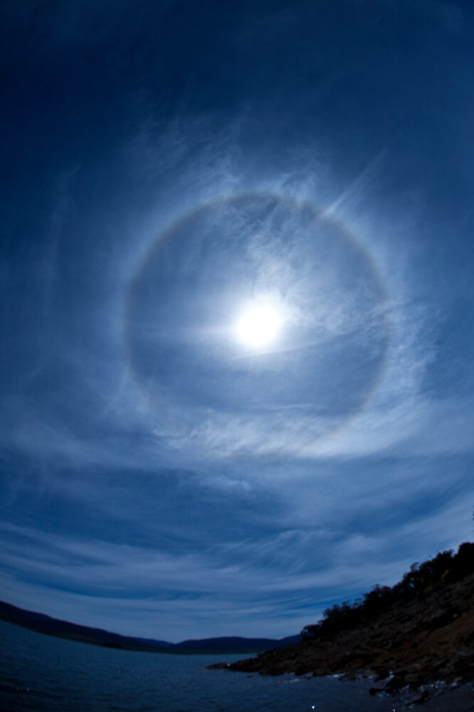 Solar Halo 2- Snowy Mountains by CRSPHOTO