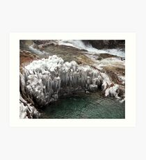 Plitvice Lakes Winter Art Print