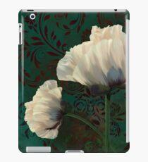 Poppies and Verdigris, dramatic cream poppy floral art iPad Case/Skin
