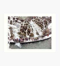 National Park Plitvice Lakes - Winter Art Print