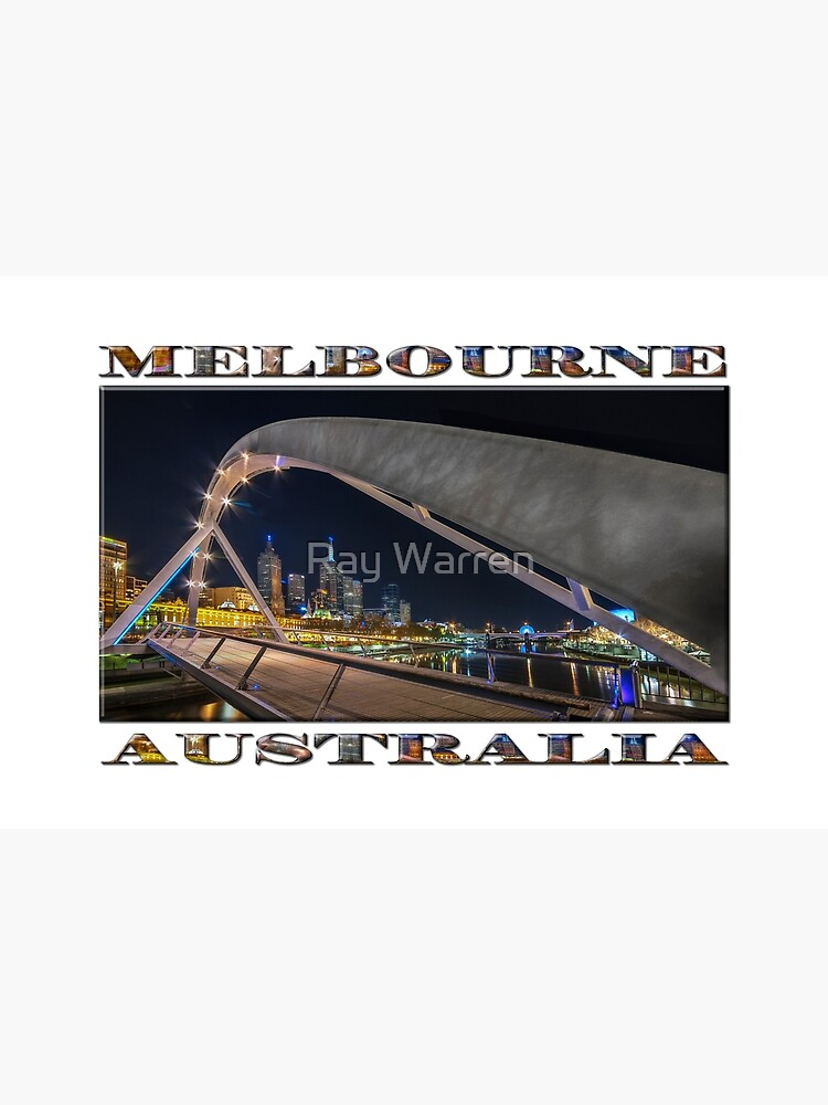 Southgate Bridge At Night (wide poster edition on white) by RayW