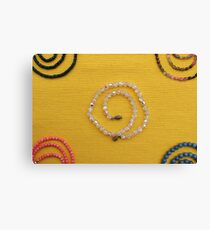 Multi colored beads  Canvas Print