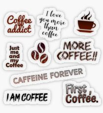 Coffee Sticker Pack Transparent Sticker