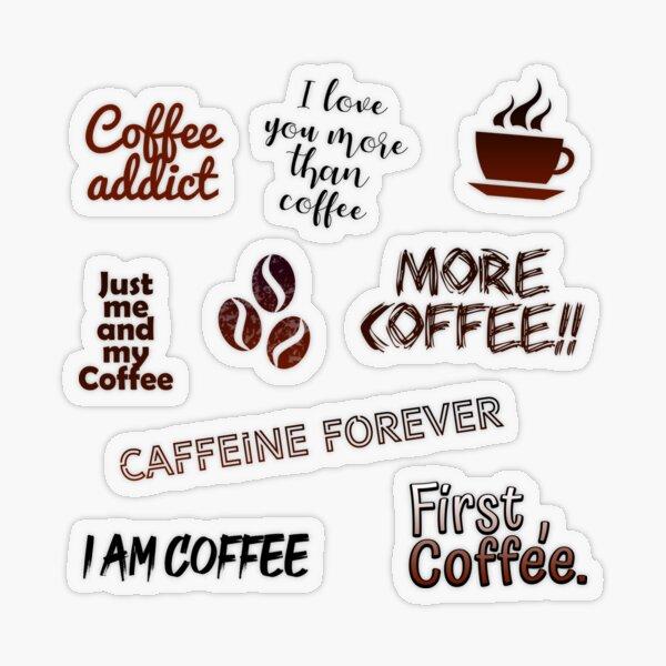 Coffee Sticker Pack Transparent Sticker