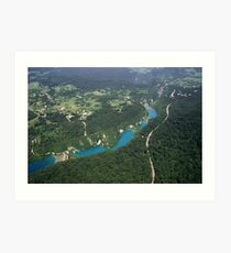 Plitvice Lakes - National Park  Croatia  Art Print