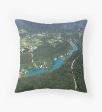 Plitvice Lakes - National Park  Croatia  Throw Pillow