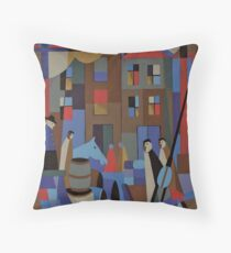 UNLOADING THE BARQUE EUCALYPTUS 1862 Throw Pillow