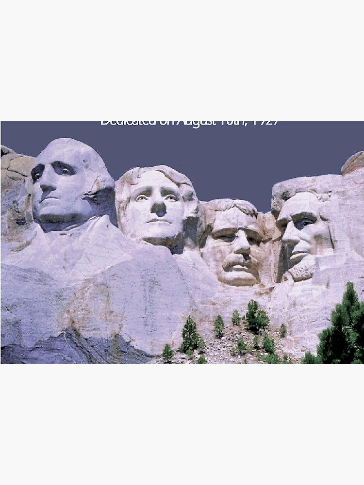 MOUNT RUSHMORE; Presidents Sculpture Vintage Print by posterbobs