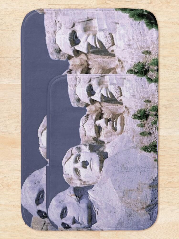 Alternate view of MOUNT RUSHMORE; Presidents Sculpture Vintage Print Bath Mat
