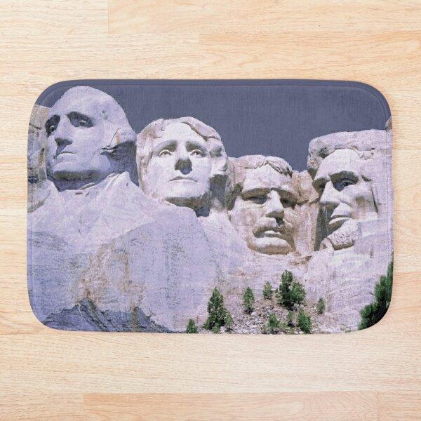 MOUNT RUSHMORE; Presidents Sculpture Vintage Print Bath Mat