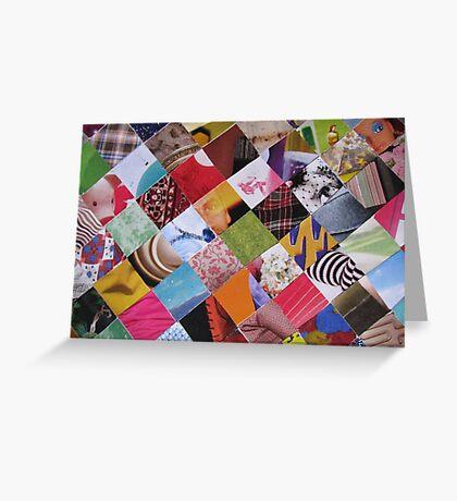 Funky mosaic card Greeting Card