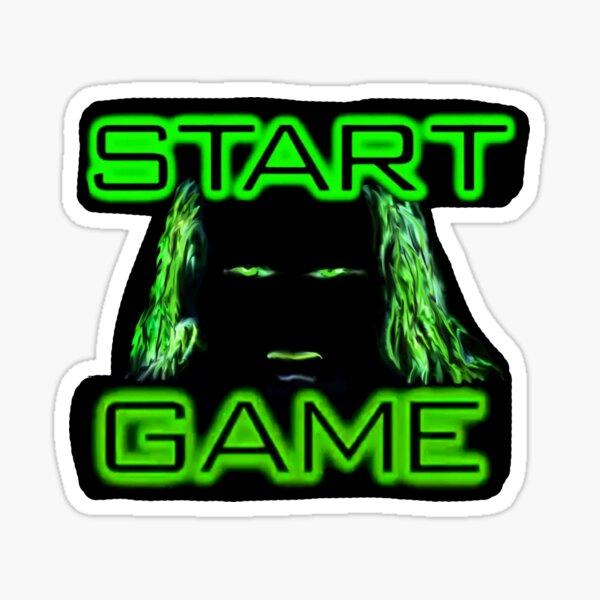 Start Game Sticker