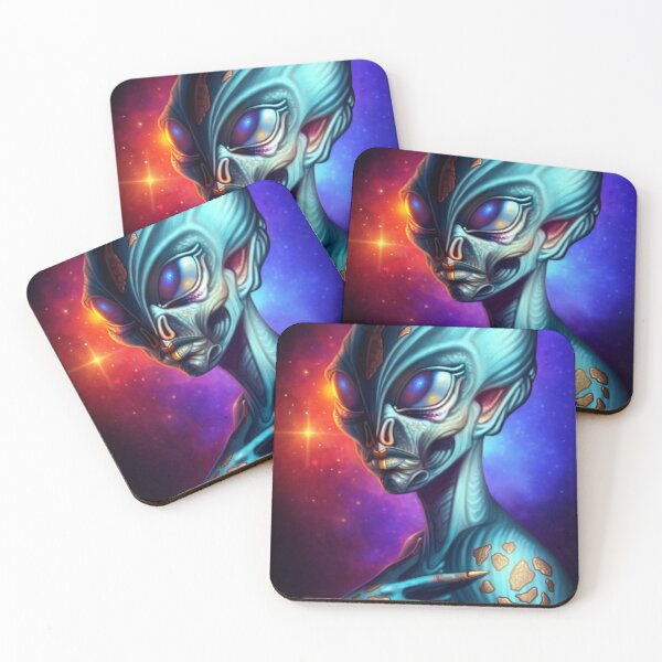Alien Coasters (Set of 4)