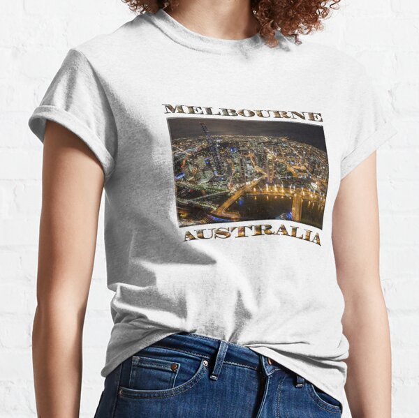 Melbourne Fires Up (poster on white) Classic T-Shirt