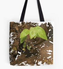 Green Leaf abstrack - Brown collour Tote Bag
