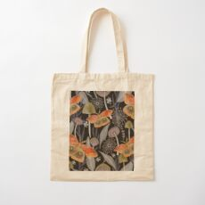 Midnight Moth Cotton Tote Bag