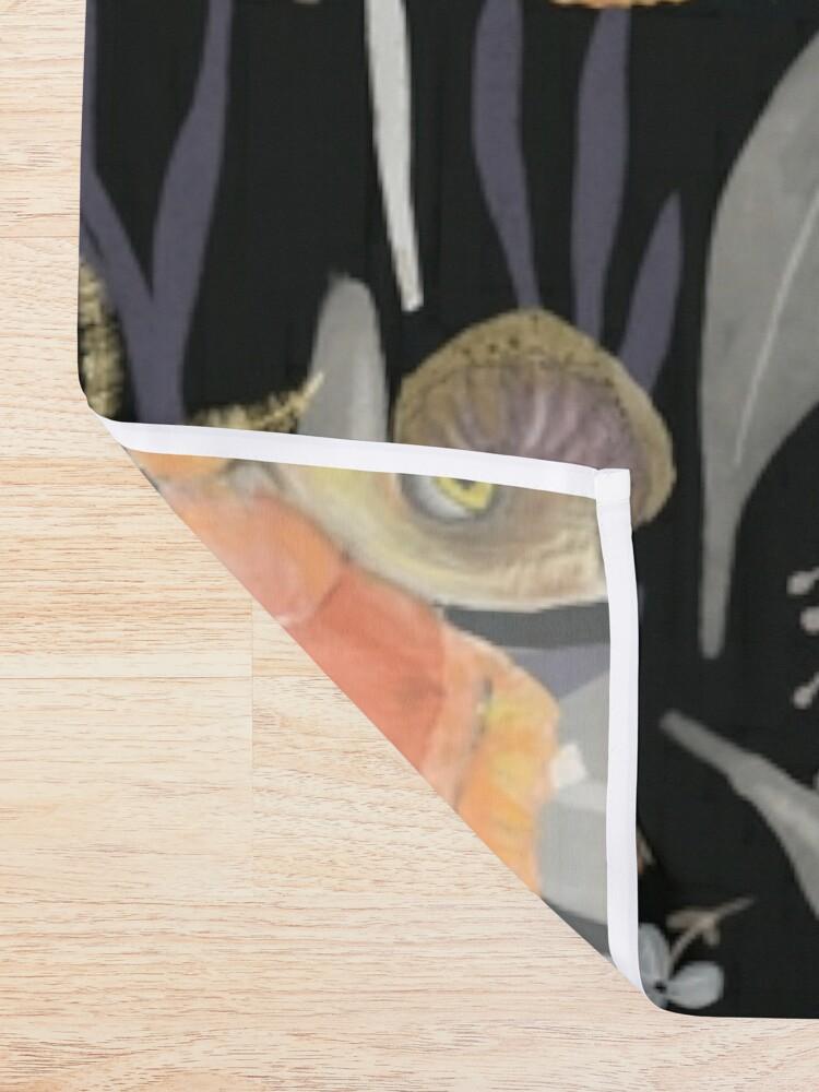 Alternate view of Midnight Moth Shower Curtain