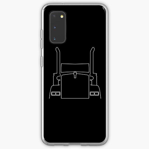 Kenworth big rig truck outline graphic (white) Samsung Galaxy Soft Case