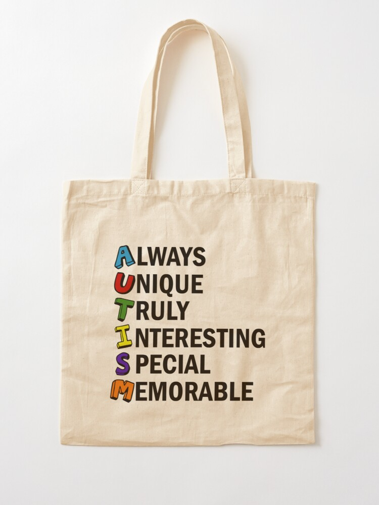 I Love Someone With Autism Reusable Tote Bag Awareness Cotton Canvas Bag