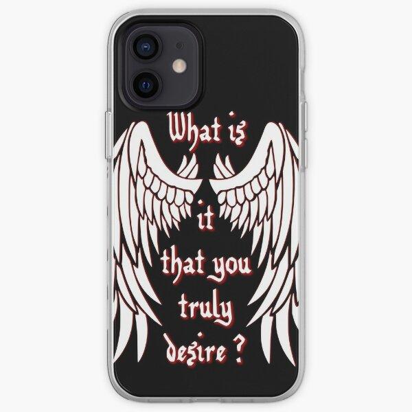 Qu'est-ce que vous désirez vraiment? - blanc Coque souple iPhone