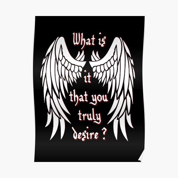 ¿Qué es lo que realmente deseas? - blanco Póster