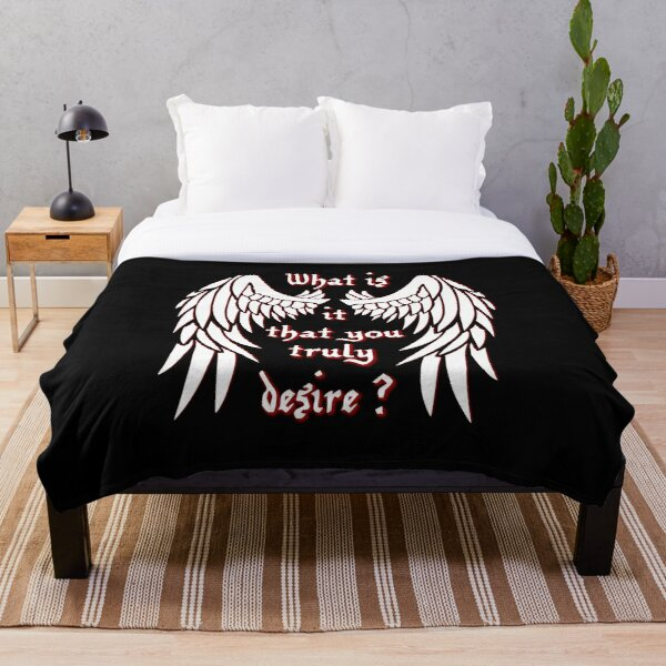 What is it that you truly desire? - white Throw Blanket