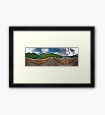 Tai Tam Tuk Reservoir - 360 Degree HDR Panoramic Framed Print