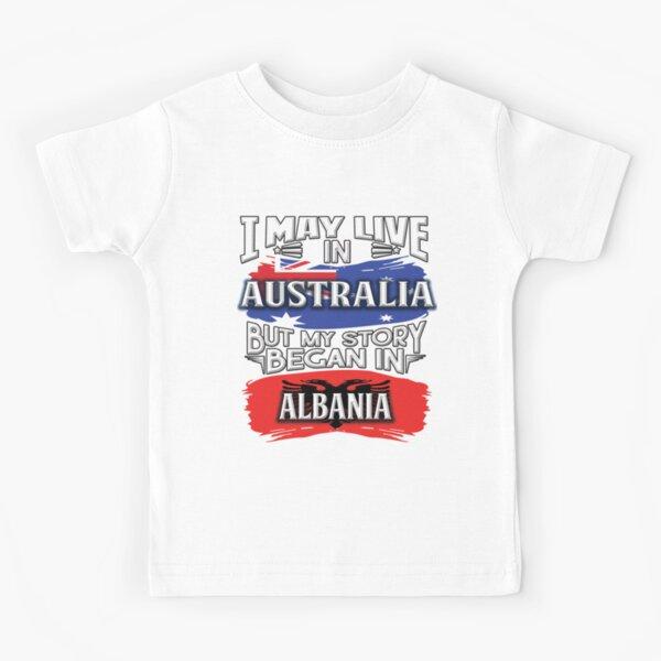 TShirt-People Albania Vintage Bandiera Baby Body