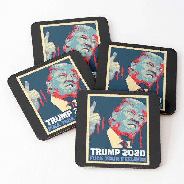 Trump 2020 Poster Vintage Coasters (Set of 4)