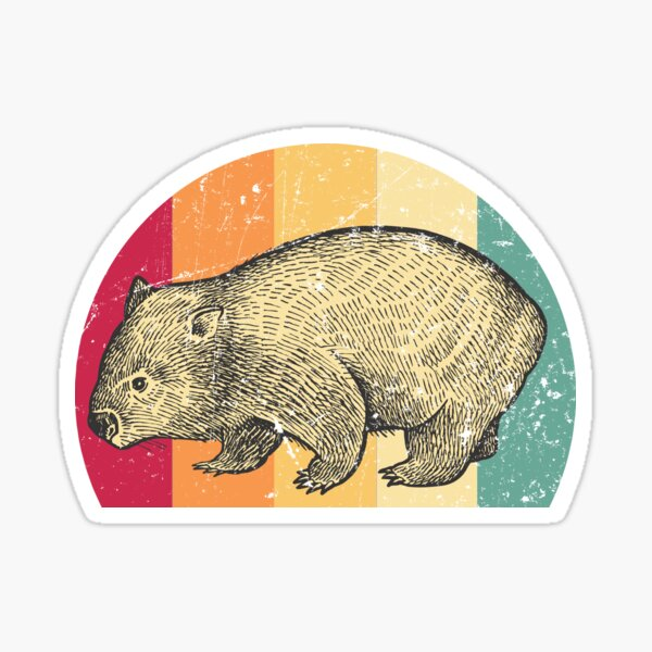 Wombat retro Sticker