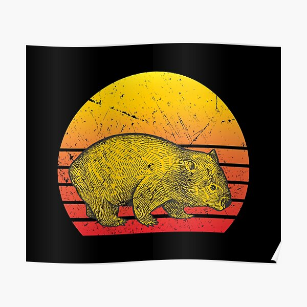 Wombat vintage Poster
