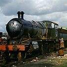 Discarded steam locos in Barry Scrapyard, UK, 1970s by David A. L. Davies