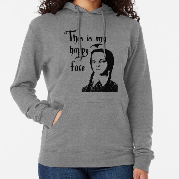 Wednesday Addams - This Is My Happy Face Lightweight Hoodie