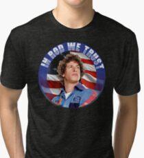 IN ROD WE TRUST Tri-blend T-Shirt