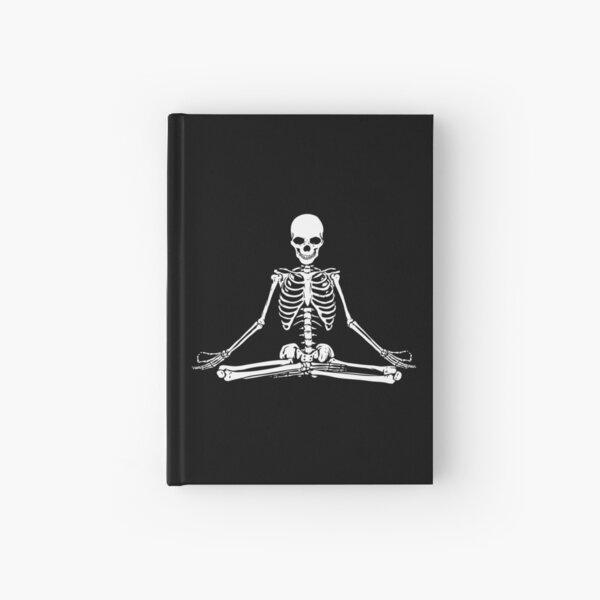 Meditating Skeleton Hardcover Journal