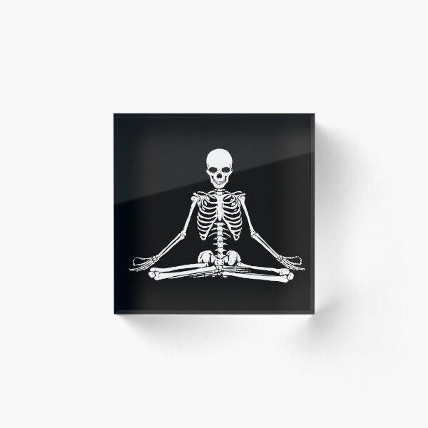 Meditating Skeleton Acrylic Block