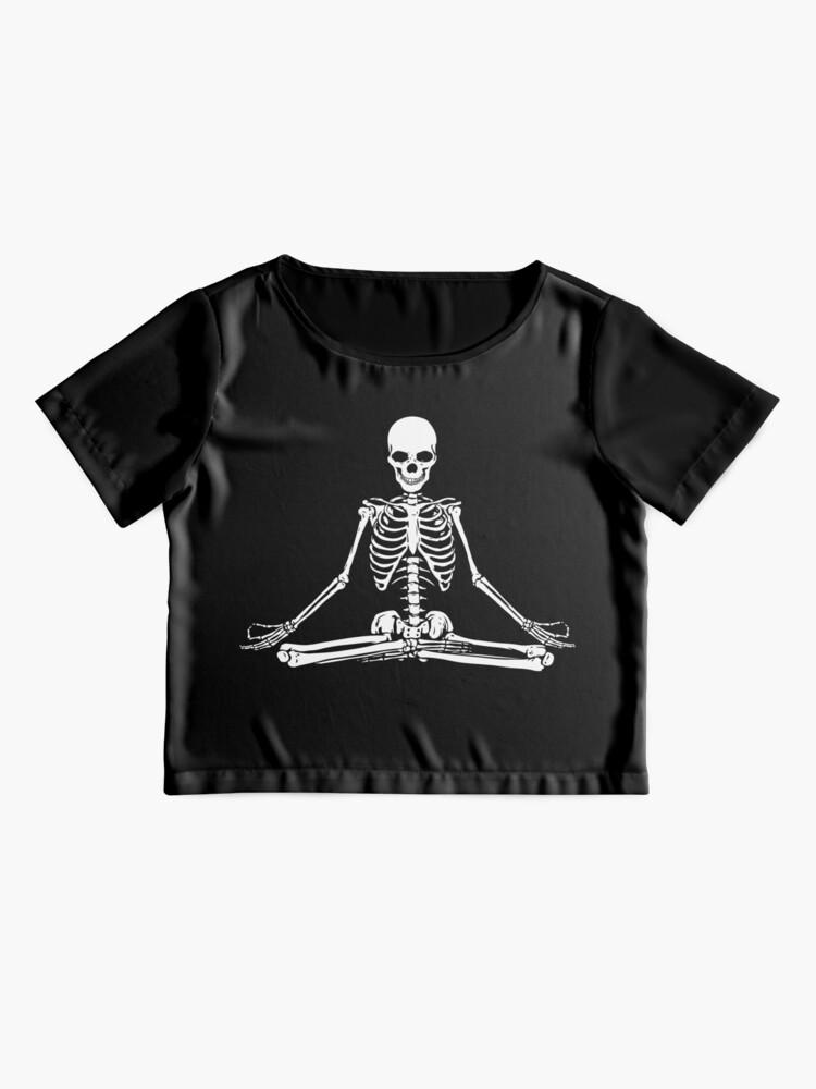 Vista alternativa de Blusa Esqueleto Meditando