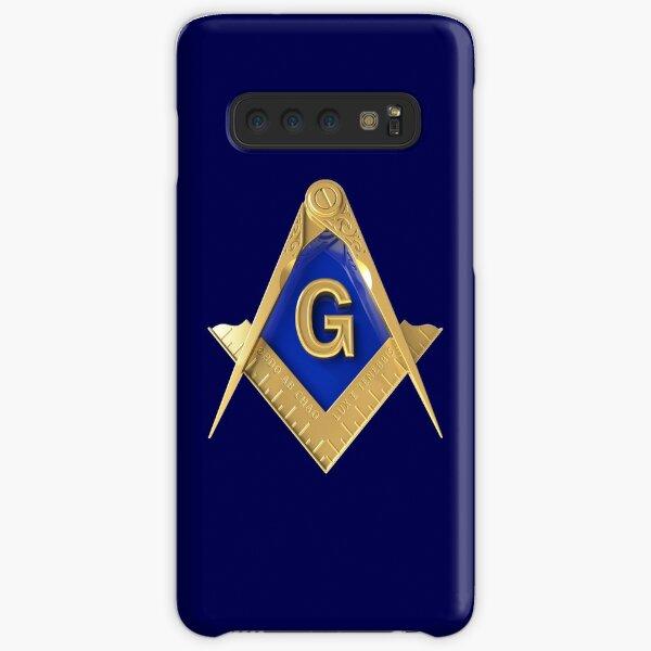 Freemason Gold Square & Compass Blue Background Masonic Samsung Galaxy Snap Case