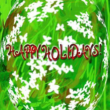 Happy Holidays Ornamental Greeting by ursula4509